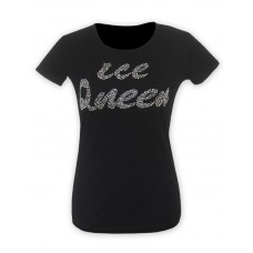 Ice Queen Black Glitter T-shirt