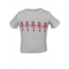 Children's White Ballerina T-Shirt