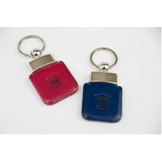 Pink/Blue Leather Keyrings